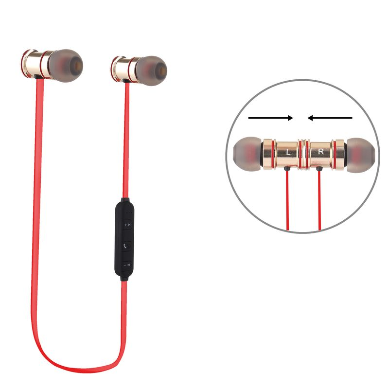 bluetooth in ear kopfh rer premium line rot. Black Bedroom Furniture Sets. Home Design Ideas