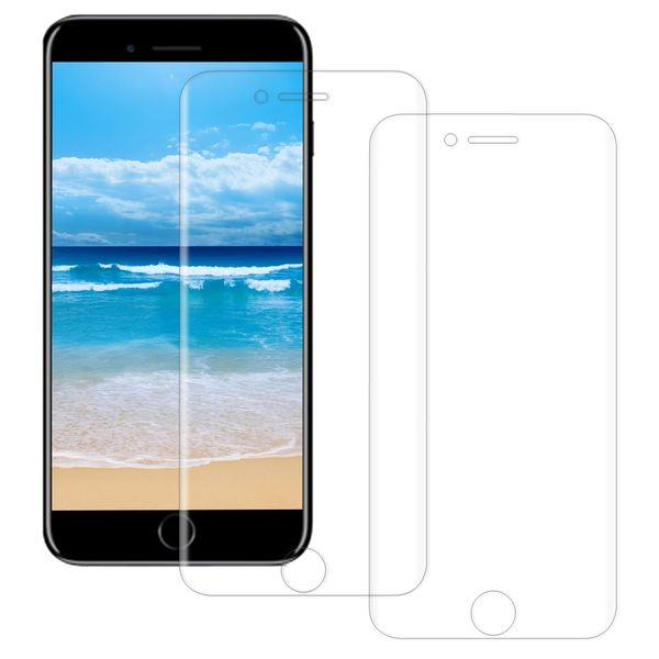 Apple iPhone 8 Plus Schutzfolie Set 2x Vorderseite