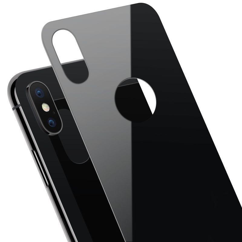 apple iphone x schutzglas f r die r ckseite in schwarz. Black Bedroom Furniture Sets. Home Design Ideas