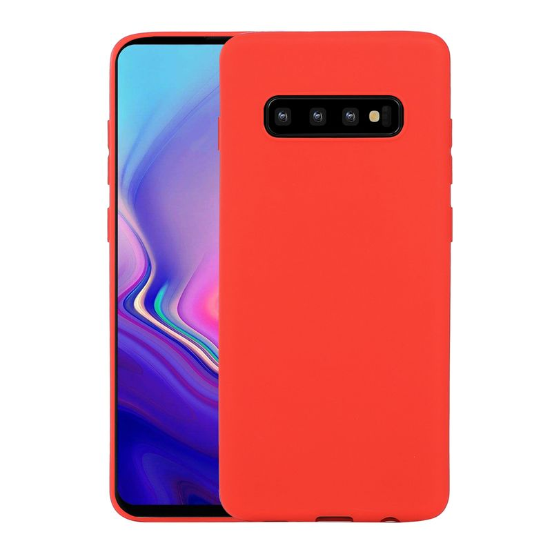 Samsung Galaxy S10 Colourline TPU Schutzhülle rot